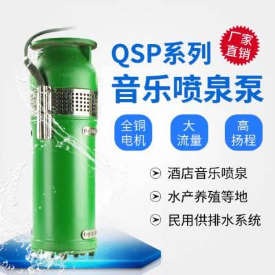 QSP喷泉专用泵水幕墙音乐大型广场65QSP40-16-3kw铸铁喷泉泵