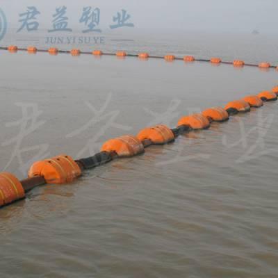 聚乙烯浮式拦污浮筒 塑料两半体浮筒 通孔30mm浮筒报价