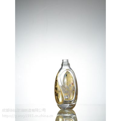 供应定制生产优质晶质料玻璃透明烤标瓶可印LOGO