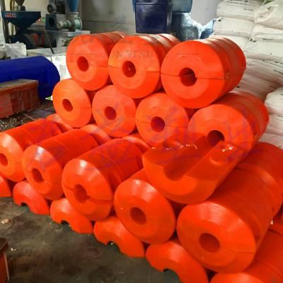 聚乙烯PU发泡浮体浮筒 耐腐蚀耐酸碱400浮筒 通孔直径160mm批发