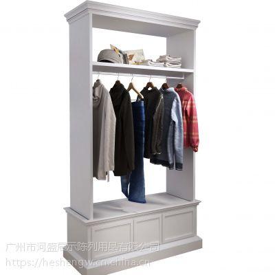服装展示货架,女装陈列展架订做,中岛边岛柜台