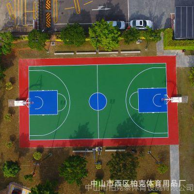 中山水泥地球场地面漆承包 丙烯酸材料建设篮球场地胶 2人组施工