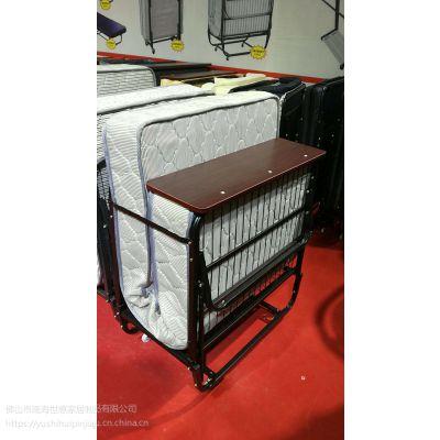 厂家批发折叠床 世惠家居J02豪华折叠床弹簧床垫20厘米厚创意铁线网加固床架单人铁架床