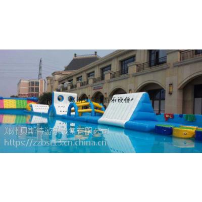 安徽阜阳支架水池大型水上充气闯关设备配套