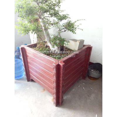 山东恒宇森生产各种水泥仿木护栏、仿木花桶等
