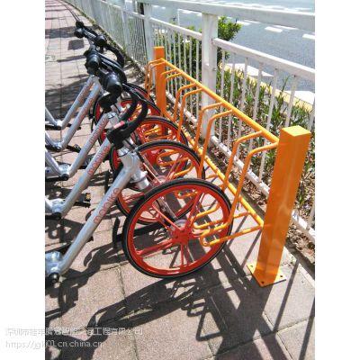 护栏式自行车停车架 电动车停放架 节省空间停车架