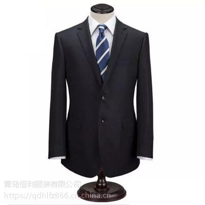 青岛西服套装量身定做厂家男女职业西装办公室文员装定制厂家