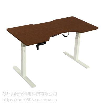厂家直销金属电动升降员工办公电脑桌学生站立式书桌智能升降餐桌欢迎咨询