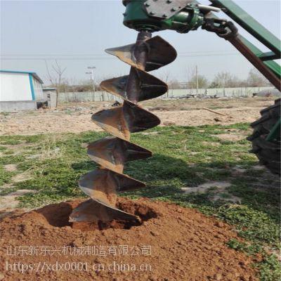 大型液压地钻挖坑机 四轮拖拉机牵引式挖坑机 多规格拖拉机挖坑机
