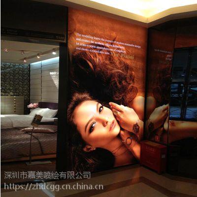 深圳商场双面吊旗喷绘 双面广告条幅制作 双面喷画大型工厂