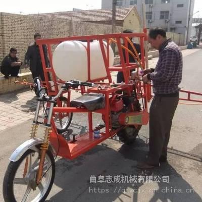 多功能三轮座驾式打药机 跨桥式三轮打药机使用视频 高效率农用喷药机