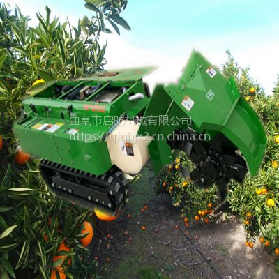 自走式履带开沟机 启航牌果农专用开沟施肥机 柴油回填机价格
