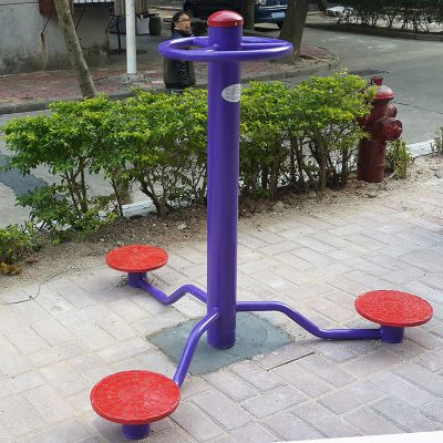 中山健身路径生厂商 珠海广场村委会健身器材安装 柏克114管器材送货