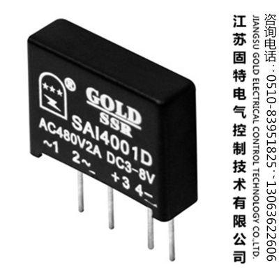 【厂家直销】固态继电器[直插式、用于线路板、体积小、单列]