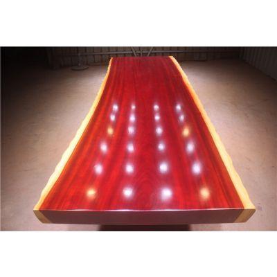 非洲红花梨大板桌300长100宽 实木红木大班台会议桌原木办公老板桌现货批发