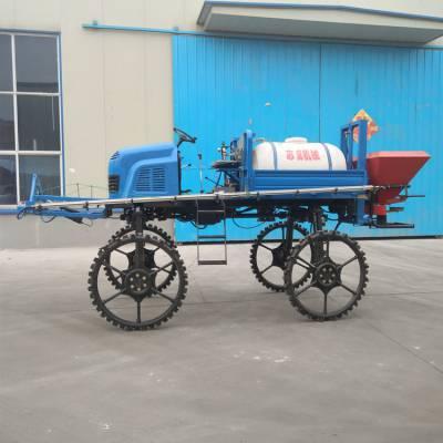 旭阳生产水田自走式喷杆喷雾器农用杀虫打药机柴油四驱喷药车