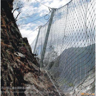 钿汇鑫品牌主动边坡防护网柔性被动边坡防护网SNS国标钢丝绳网