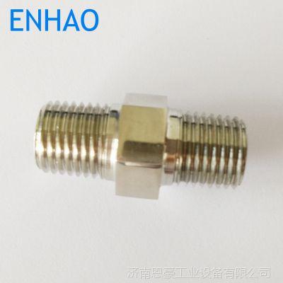 ENHAO 不锈钢对丝 1/4NPT直通 不锈钢管件