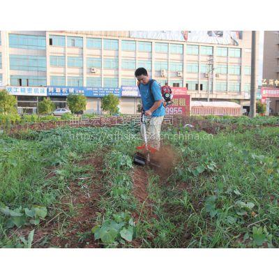 轻便果园用开荒背负式松土机 便携式重量轻背负式水稻收割机