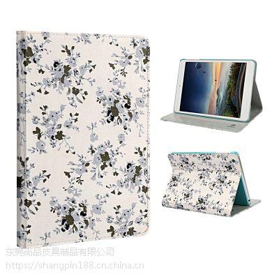 东莞苹果iPad Pro12.9寸仿皮翻盖简约带休眠支架款电脑配件OEM厂家贴牌加工