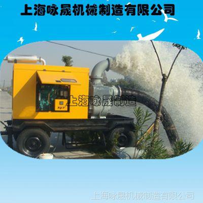 防汛排涝12寸移动泵车/800立方无堵塞自吸防汛抗旱柴油机水泵
