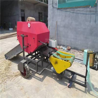 新疆养殖场饲料打捆包膜机 秸秆牧草揉丝打捆机 润丰打捆包膜机