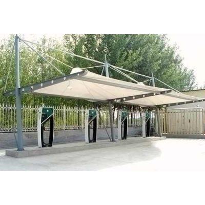 南昌膜结构充电桩停车棚 自行车棚厂家世恩膜结构