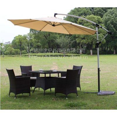 合肥星巴克咖啡户外桌椅,休闲吧外摆专用大遮阳伞桌椅