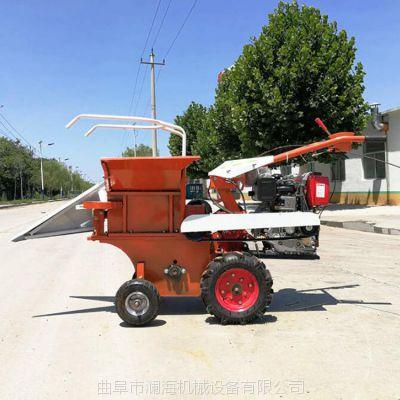 家用手扶掰棒子机 小型玉米收获机 方便快捷 秸秆粉碎带扒皮玉米收获机