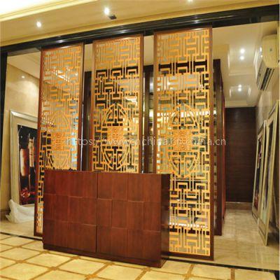 樓盤售樓部裝飾鋁窗花隔斷 木紋鋁方管焊接鋁花格 鋁屏風廣州生產廠家
