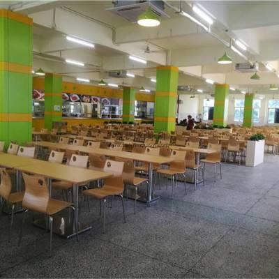 广州食堂餐桌椅批发,员工防火板饭堂桌椅厂家