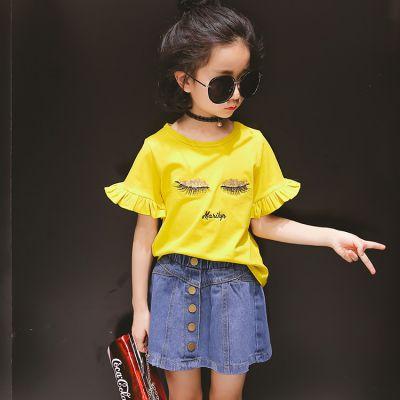 广州尾货批发市场 1元2元服装 童装批发厂家直销1-5元 地摊 童装短袖T恤