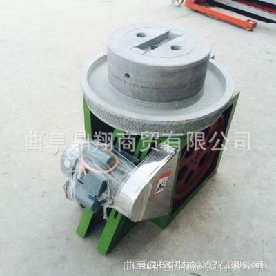 山东厂家直销天然砂岩石材电动石磨机小型家用豆浆电动石磨机