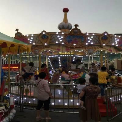 儿童游乐场室内电动旋转木马 广场大型户外超豪华转马游乐