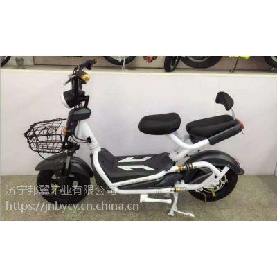 14英寸48V双响炮双人电动车电动自行车 新款大功率电瓶车厂家定制