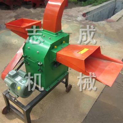 厂家直销农作物秸秆饲料铡草机 小型单相电铡草粉碎机 多功能青储专用铡草机