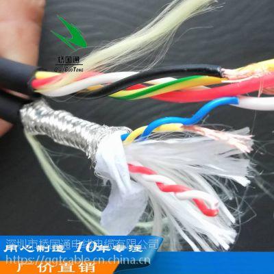 耐折1000万次以上 编码器伺服 4芯0.75动力线 4芯0.2双绞信号连接拖链线