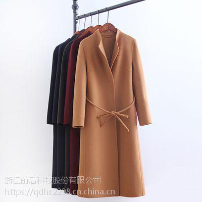 时尚修身韩版中长款呢大衣双面羊毛