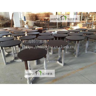 咖啡厅实木桌椅 西餐厅简约桌椅 定制餐桌椅 上海韩尔家具厂供应