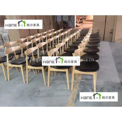 韩尔简约品牌家具 江浙沪JZH02餐厅实木椅子定制工厂