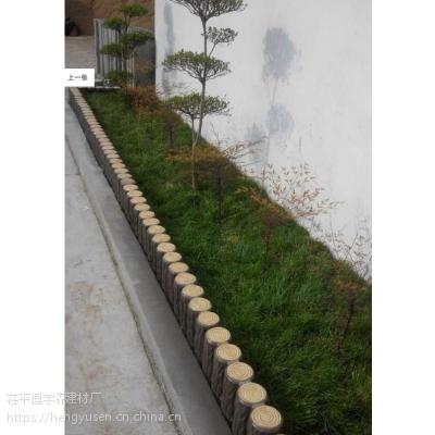 水泥仿木草坪栅栏 低价路沿石 款式护栏