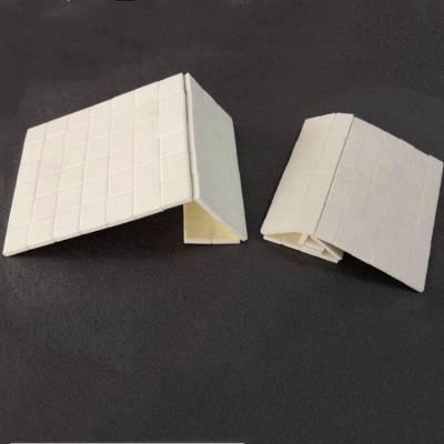 17.5×17.5×5耐磨陶瓷片 煤粉管道 除尘管道防磨专用 高温粘接胶固定 防脱落