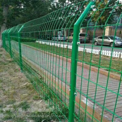 双边丝护栏网 浸塑双边丝公路护栏网 云南防护网栏