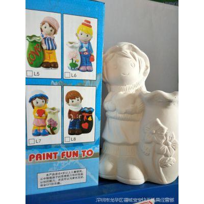 陶瓷彩绘 石膏娃娃儿童益智玩具 厂家批发diy涂鸦涂色陶瓷娃娃