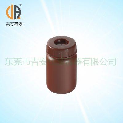 HDPE 大口塑料圆瓶 90g包装塑料瓶 90ml棕色圆罐