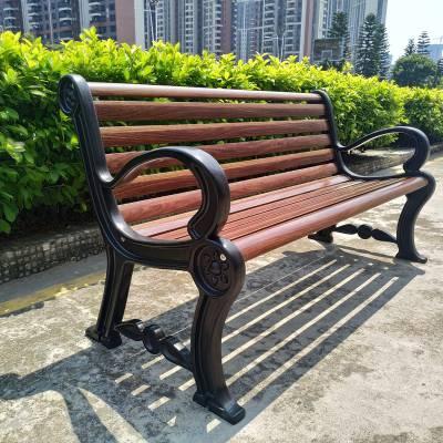江苏宿迁别墅户外休闲椅 高档小区公园椅 欧式铸铝双人位长椅