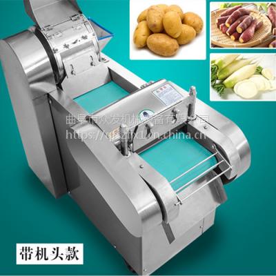 节省人力碎菜机 蔬菜加工切段机 猕猴桃切片机