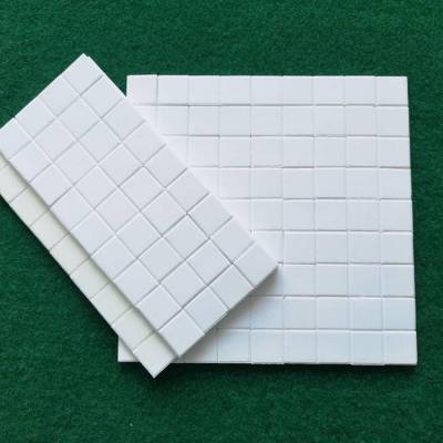 水泥厂循环风机叶轮耐磨陶瓷片(规格10*10*1.5)强力耐磨陶瓷胶粘接