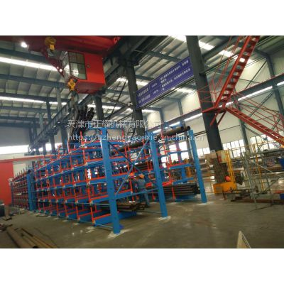 山西管材货架 伸缩悬臂式货架价格 全国独创钢管存放架 12米管材架