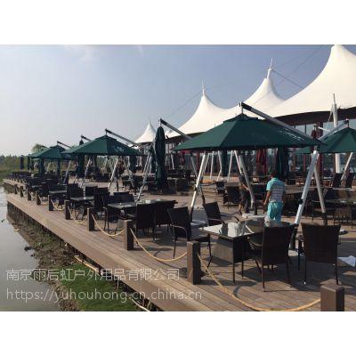 可定制欧式铝合金庭院伞保安物业岗亭伞遮阳伞可配桌椅可印LOGO可定制颜色伞面有透明过胶涤纶布伞面